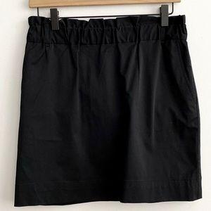 Banana Republic Black Paper Bag Waist Skirt SZ 4